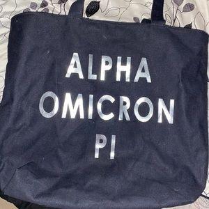 Handbags - Alpha Omicron pi tote bag